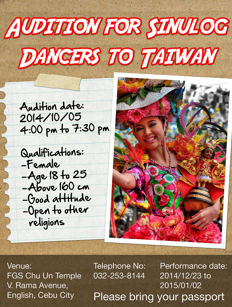 Sinulog Dancer Audition Poster